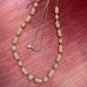 Kate Spade Light Pink Stone Necklace